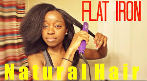 natural hairstyles for 58 years old flat iron on natural hair youtube