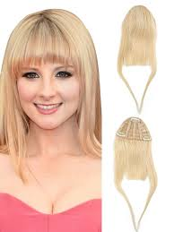 clip in fringe remy hair fringe 100 human hair clip in bangs 613
