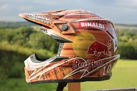 motocross helmet red bull east coast airbrush