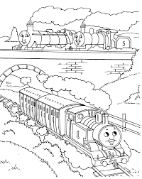 tank engine percy thomas train friends coloring pages
