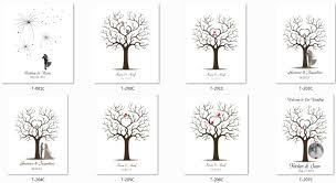 wedding tree personalize fingerprint wedding tree wedding guest book tree