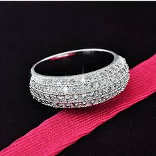 bridal fashion rings images Fashion rings with shiny zircon stone pure exquisite wedding ring jpg