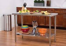 stainless steel kitchen island table stainless steel kitchen island ebay