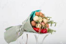 where can i get an edible image made bouquet made of vegetables original edible present