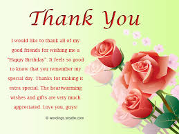 birthday thank you notes how to say thank you for birthday wishes wordings and messages