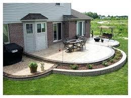 Concrete Backyard Patio by Patio Concrete Designs U2013 Smashingplates Us
