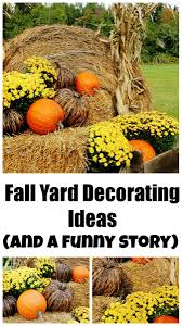 fall decorating ideas for outside and a funny story corn stalks