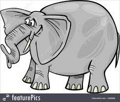 wildlife animals elephant cartoon stock illustration i3456698
