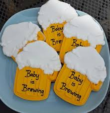 a baby is brewing baby is brewing cookies and party favors