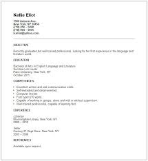 resume summary statement for recent college graduate templates