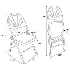 Samsonite Chairs For Sale Samsonite Fanback Steel Folding Chair With Bonded Leather U0026 Memory