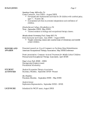 resume examples for massage therapist sample occupational therapy