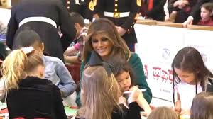 yourube marine corp hair ut first lady melania trump speaks at marine corps reserve toys for