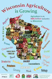 Map Wisconsin Wisconsin Commodity Map