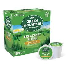 keurig k cups light roast green mountain breakfast blend light roast coffee keurig k cup pods