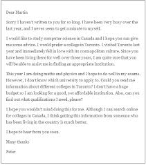 Formal Letter Asking Information letter asking for advice from friend