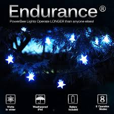 Solar White Christmas Lights by Solar Star Lights 100 White Powerbee Endurance