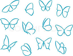butterflies silhouettes for symbols icons and tattoos design