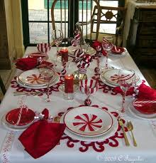 christmas decor for round tables christmas themed tablescape by clarissa holiday tablescapes