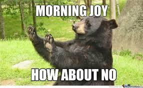 Joy Meme - how about no bear on morning joy by ronnyentj meme center