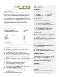 Key Skills Examples For Resume by Entry Level Resume Templates Cv Jobs Sample Examples Free