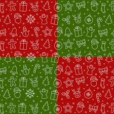 christmas pattern red green christmas icon pattern elements red green background vector