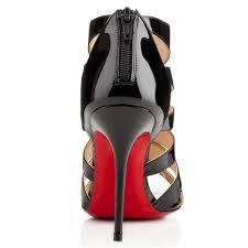 christian louboutin beautyk 100mm patent leather peep toe sandals