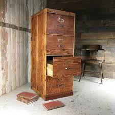 Pine Filing Cabinet Vintage Pine Filing Cabinet The Hoarde
