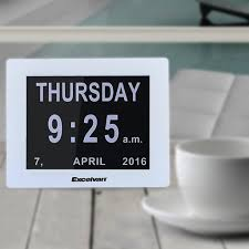 8 u0026 034 led modern calendar auto flip desk wall clock large time