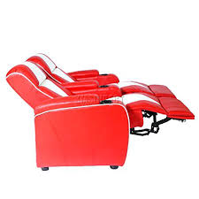 Electric Recliner Armchair Leather Retro Home Theatre Cinema Movie Chair Sofa Seat Electric