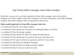 Front Desk Manager Resume Top 5 Front Office Manager Cover Letter Samples 1 638 Jpg Cb U003d1434701562