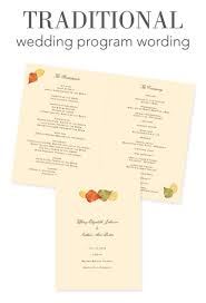 traditional wedding program wording how to word your wedding programs traditional wording wedding