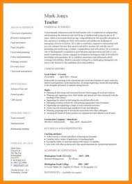 Teacher Job Resume Sample by 9 Resume Sample For Teaching Job Manager Resume