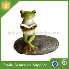 garden ornaments frog resin frogs statue reading a book