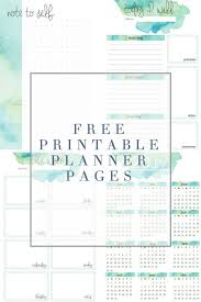 printable planner notes planner printables the crazy craft lady
