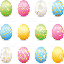 easter eggs with decorative patterns stock vector art 466259832
