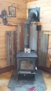 metal barn roof tin woodstove heat shield rustic pinterest