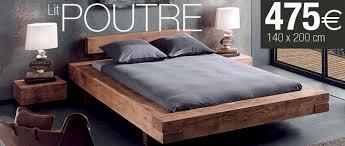 lits 2 places en bois massif
