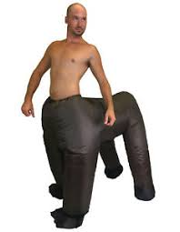 Halloween Blow Costumes Funny Centaur Costume Chub Inflatable Blow Suit Brown Horse