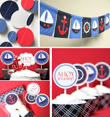 nautical themed baby shower decorations www awalkinhell com