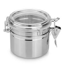 kitchen flour canisters stainless steel airtight sealed canister coffee flour sugar tea
