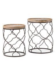 set of 2 decorative accent tables accent furniture t j maxx