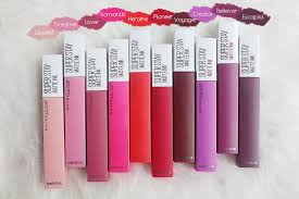 Maybelline Superstay Matte Ink go proof with the wearing liquid matte lipstick