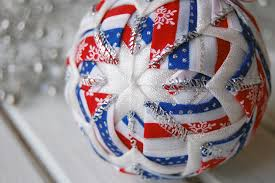 in july ornament patriotic ornament white and blue