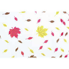 Paper Table L Table Mate Fall Leaves Plastic Disposable Table Cover 54 W X 108 L