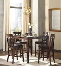 Counter High Dining Room Sets by Bennox Brown 5 Piece Counter Height Dining Room Set From Ashley