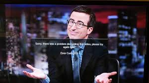 John Oliver Memes - john oliver chromecast screenshot perfectly illustrates error