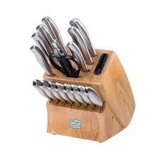 chicago cutlery kitchen knives chicago cutlery insignia steel 18 pc block set shop world kitchen