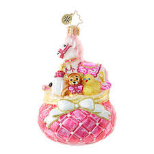 christmas ornaments baby christopher radko ornaments radko baby pink princess 1018841