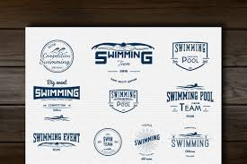 Swimming Logo Design by Swimming Vector Set Badges And Logos Logo Templates Creative